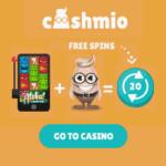 Cashmio Casino 100% bonus up to 200 EUR and 100 free spins
