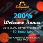 Casimba | 125 bonus spins   €6,500 bonus in new Microgaming casino