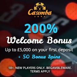 Casimba | 125 bonus spins + €6,500 bonus in new Microgaming casino