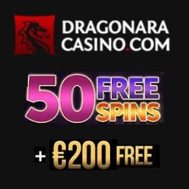 Dragonara Casino 50 free spins and $200 free bonus