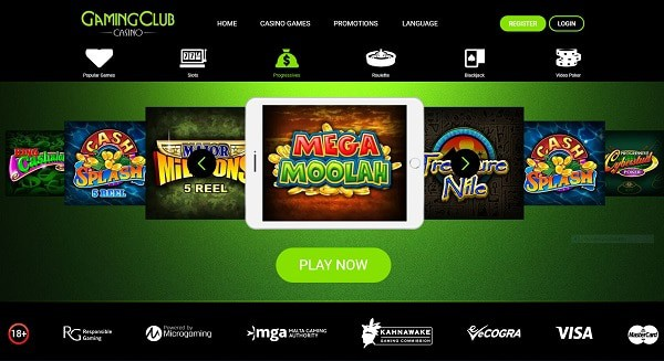 Gaming Club Casino Review & Rating