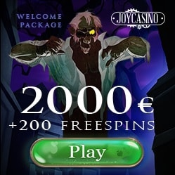JOY CASINO - 100% up to $/€2,000 bonus and 200 gratis free spins