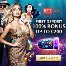 Betjoy Casino & Sportsbook – 25 free spins NDB + €200 welcome bonus