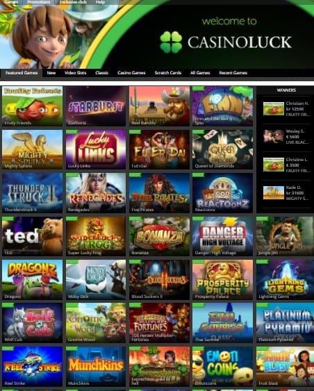 CasinoLuck free bonus