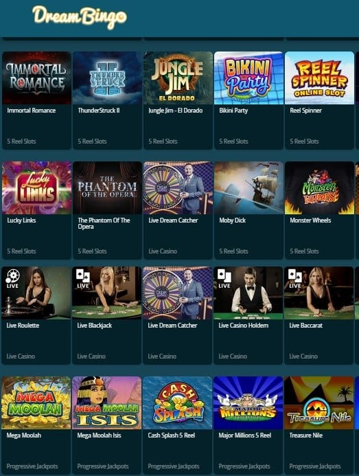 Dream Bingo Casino Review - free spins UK