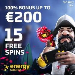 EnergyCasino 15 free spins on registration – no deposit bonus offer!