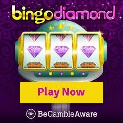 Bingo Diamond Casino 200% welcome bonus and 150 free spins