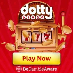 Dotty Bingo Casino 100 free spins and £400 welcome bonus