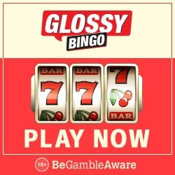 Glossy Bingo Casino 50 slot free spins and £300 bonus on deposit
