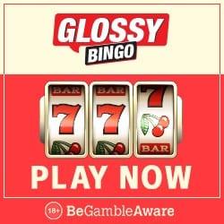 Glossy Bingo Casino 100 free spins and £400 welcome bonus