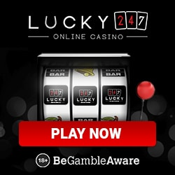 Lucky247 Casino 50 free spins and £500 welcome bonus