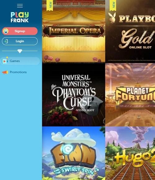 PlayFrank Casino free spins bonus