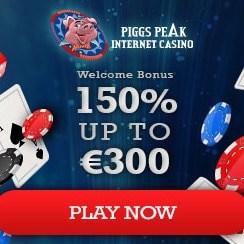 Piggy Peak Casino 50 free spins and $300 welcome bonus