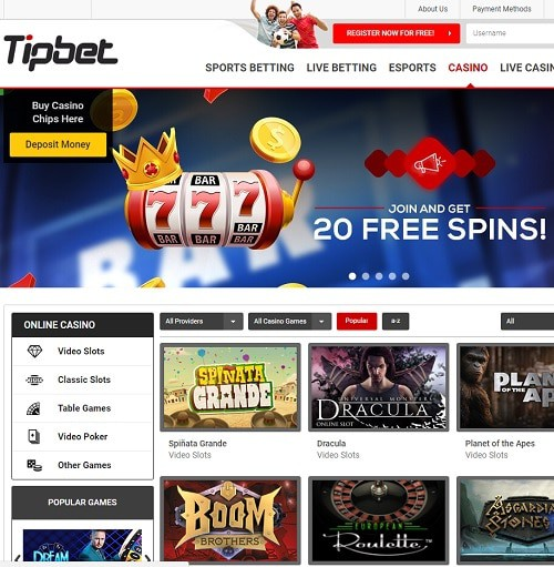 Tipbet Casino Review