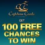 Captain Cooks Casino €475 free money bonus and 100 free spins