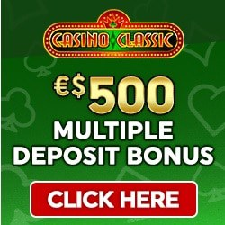 Casino Classic 50 free spins and $/€500 multplie deposit bonus