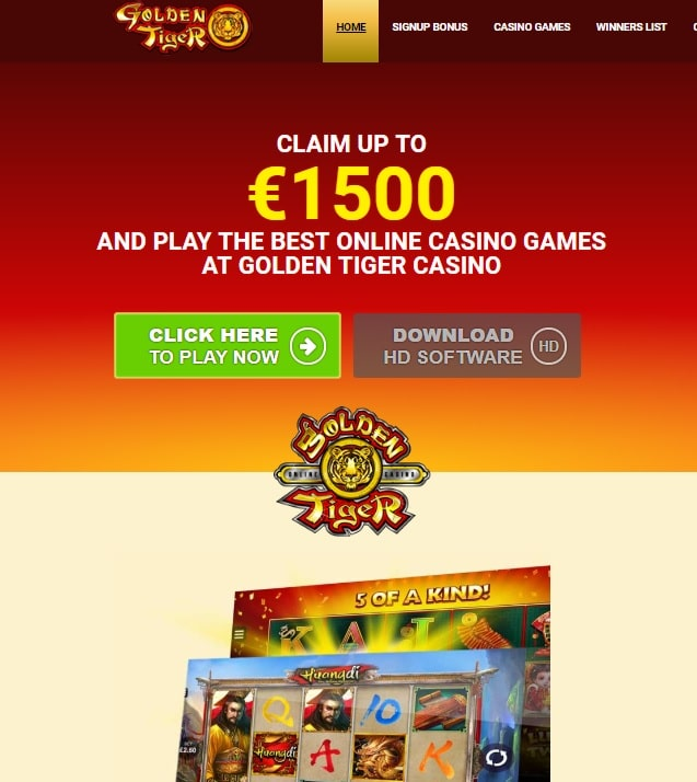 Golden Tiger Casino Microgaming