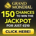 Grand Mondial Casino 150 free spins on Mega Moolah and 100% welcome bonus