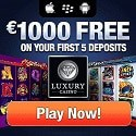 Luxury Casino $1000 free bonus money on all games