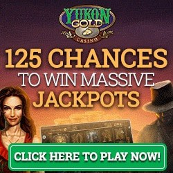 Yukon Gold Casino 125 free spins on Mega Moolah and free bonus money