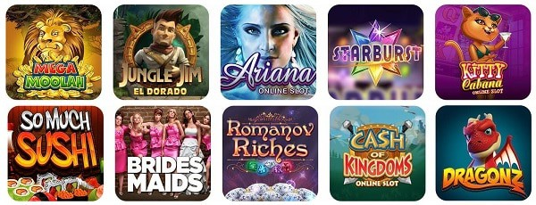 Spin Casino virtual games - slots, roulette, blackjack, video poker, jackpots
