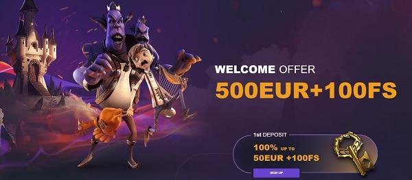 500 euro welcome bonus plus 100 free spins on slots