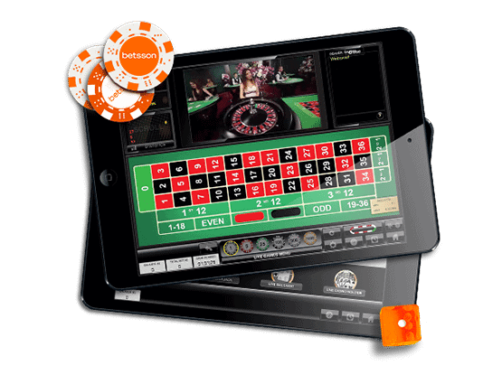 Mobile Live Dealer Game at betsson