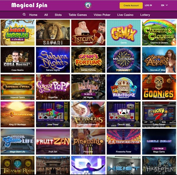 Play best games with free spins!