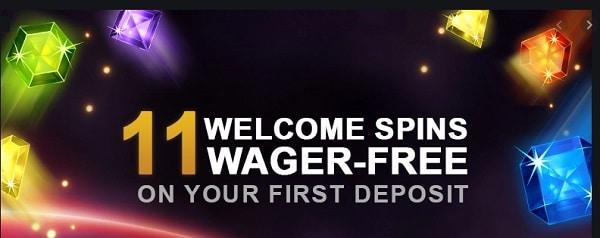 11 free spins on deposit
