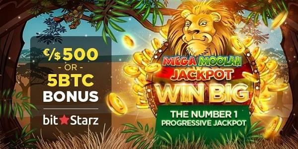 Progressive Jackpots 200 free spins and 5 BTC welcome bonus