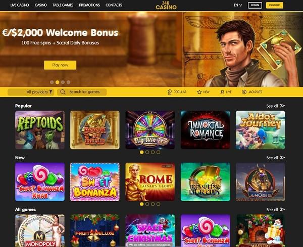 24kCasino.com Crypto Casino Games
