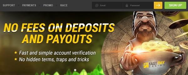 Fastpay Casino no deposit bonus and fast withdrawals
