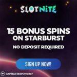 Slotnite.com 215 free spins + 200% up to €1000 casino bonus