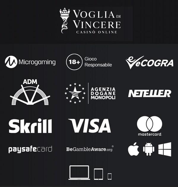 Voglia di Vincere Casino Bonus e promozioni, Giochi e software, Transazioni e sicurezza, Assistenza