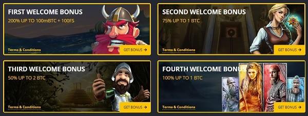 Welcome Bonus (4 deposit bonuses)