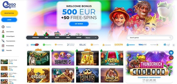 500 EUR welcome bonus and 20 free spins