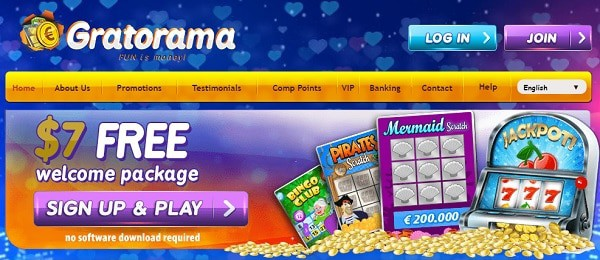 $7 free chips on scratchcards online