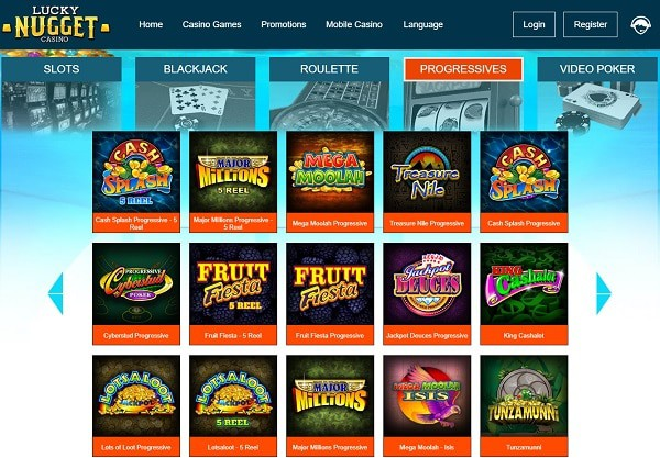 Lucky Nugget Casino free spins bonus no deposit requied