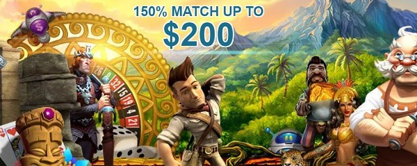 100% high roller bonus or 150% standard welcome bonus