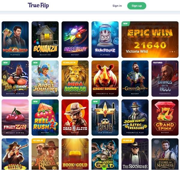 True Flip Crypto Casino ONLINE