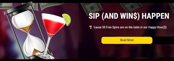 50 Free Spins every day