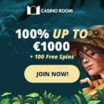 Casino Room 100 free spins on jackpot slots (exclusive bonus)