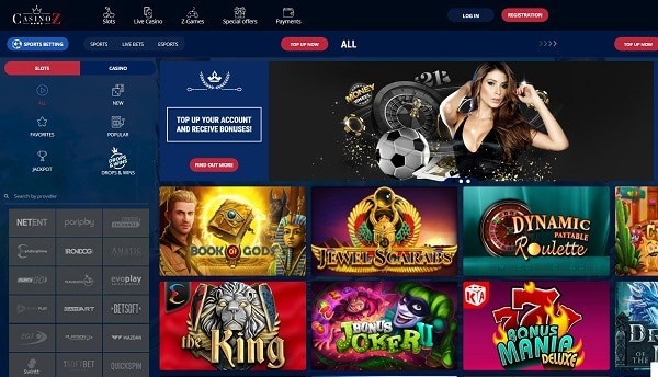 Casino Z review, bonuses, promotions, games, deposits, withdrawals, support