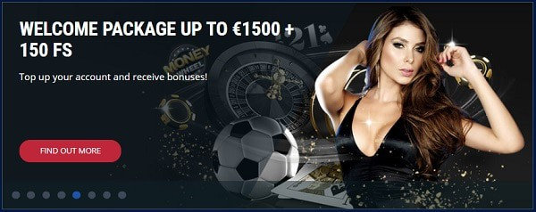 Get 150 free spins on deposits!