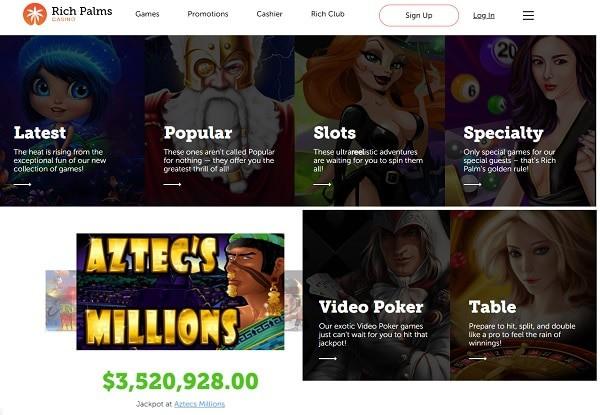Rich Palms Casino Online Free Chip No Deposit Bonus Code