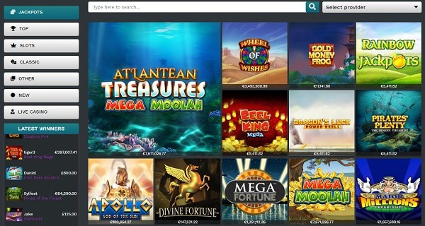 Online and mobile games with free spins