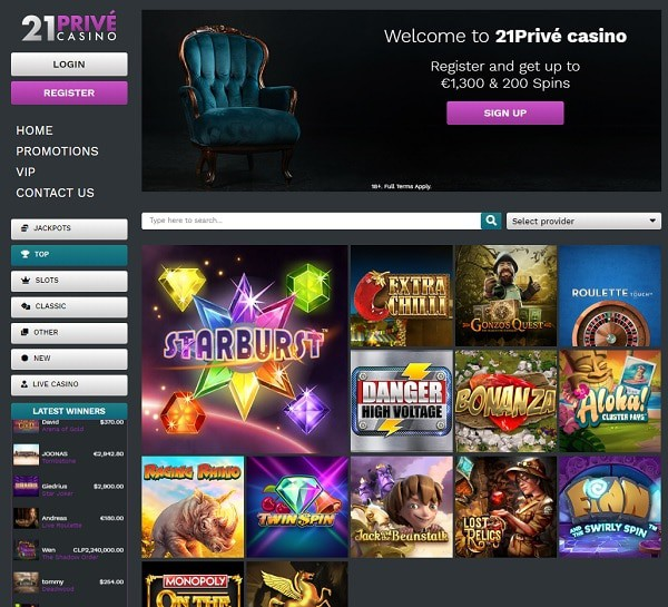 Register, log into your account and play to win real money!