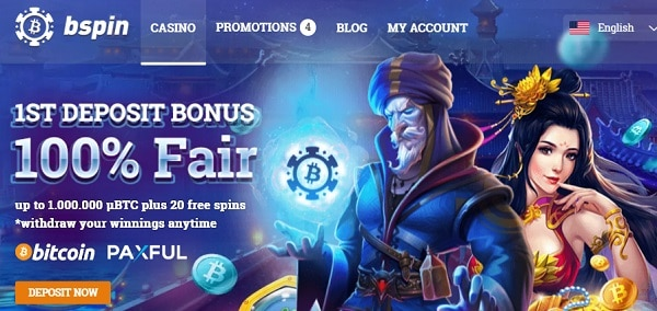 100% bonus and 20 free spins