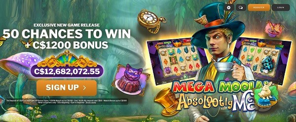 Absolootely Mad Mega Moolah free spins
