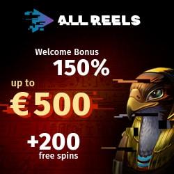 All Reels Casino welcome bonus banner